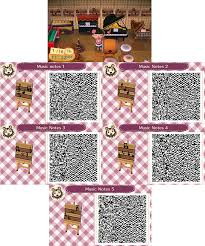 ACNL- Music Notes Wall Poster QR Codes ...