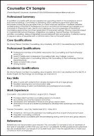 Counsellor Cv Sample | Myperfectcv