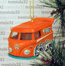 Details Zu Volkswagen Kombi Vw Micobus Christmas Tree Ornament Orangeteal Bus Van Xmas