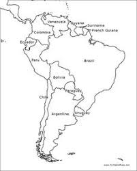 South America Outline Map Graphic Organizer For 6th 12th Grade