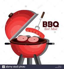 Best Barbecue Design Bbq Party Best Meat Vector Illustration Design Stock Vector