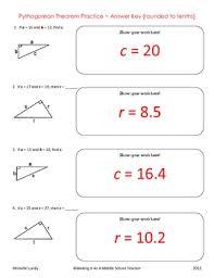 Pythagorean Theorem Worksheet Answer Key The Best Worksheets Image ...