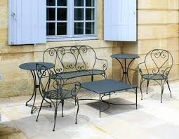 black wrought iron furniture. Wrought Iron Patio Furniture Black Chairs And Table Antique Cushions O