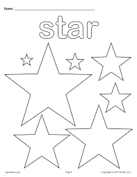 Small Picture FREE Stars Coloring Page Star Shape Worksheet