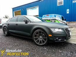 matte black audi. vehicle wraps vinyl graphics car wrapping baltimore matte black audi