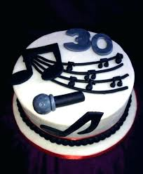 Music Birthday Cakes Designs Cool Design Happy Cake With Musical