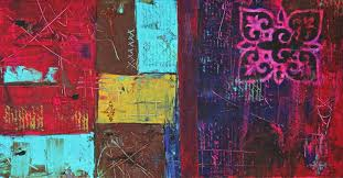laura carter artwork patchwork colorful abstract art painting original painting acrylic abstract art