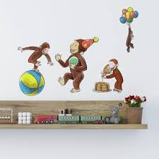 curious george storyboard wall decals monkey room decor baby nursery stickers com