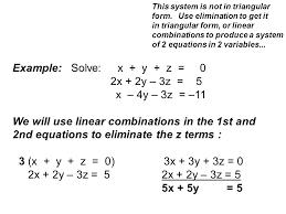 example solve x y z 0 2x 2y 3z