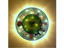 doggy wall clock with light dog owner