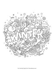 Winter Coloring Pages Printable Coloring Ebook Primarygames