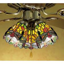 stained glass ceiling fan light shades 2018 home depot ceiling fans with lights low profile ceiling fan with light