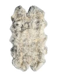 lifestyle brands natual 4 ft x 6 ft grey new zealand quattro sheepskin rug