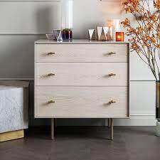 modernist wood lacquer 3 drawer dresser winter wood