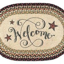 welcome barn stars braided jute oval area rug 15 x 20 rugs
