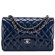 521 best Navy images on Pinterest | Beautiful, Black and Clothing & Chanel Navy Quilted Patent Jumbo Classic Double Flap Bag #chanel Adamdwight.com