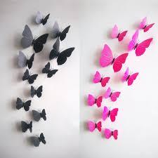 3d Butterfly Wall Decor Aliexpresscom Buy Hot Sale 3d Butterfly Wall Decals12pcs 6big