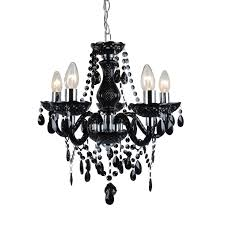 marie therese traditional black chrome ceiling fitting chandelier 5 light