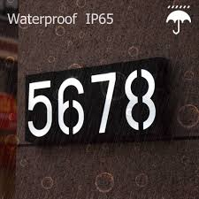 Outdoor Address Light Solar Light Led House Number Doorplate Address Lamp House Number Outdoor Lighting Porch Lights With Solar Rechargeable Battery