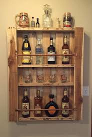 pallet liquor rack. Perfect Rack Lighted Liquor Shelves Rustic Pallet Wood Wall Shelf Cabinet  Bottle Display Of With Rack E