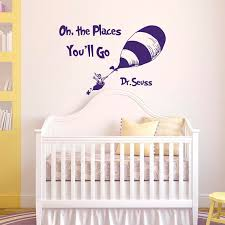 wall decal quotes oh the places you ll go by dr seuss fabwalldecals  on wall decal quotes for nursery with wall decal quotes oh the places you ll go by dr seuss fabwalldecals