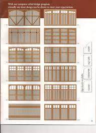 standard garage door designs
