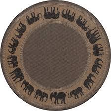 couristan recife elephant cocoa black 9 ft x 9 ft round indoor