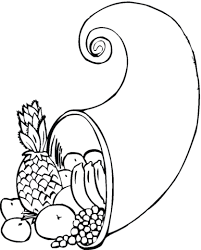 Cornucopia Coloring Page Free Printable Coloring Pages