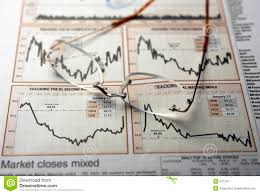 Mer Stock Chart Spectacles On Stocks Chart Stock Image Image Of Exchange