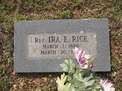 Rev Ira Everett Rice (1886-1968) - Find A Grave Memorial