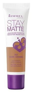 Rimmel Stay Matte Foundation Color Chart Rimmel London Stay Matte Liquid Mousse Foundation