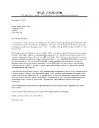 Sample Cover Letter For Legal Work Experience Adriangatton Com