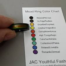 Mood Ring Chart Free Shipping Magnetic Hematite Mood Ring Size 6 7 8 9