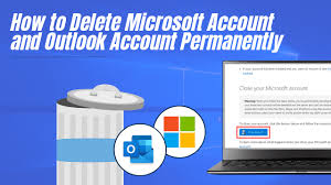 how to delete outlook account and