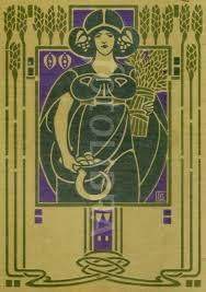 art nouveau book design ethel larbe an original highly stylized art nouveau design