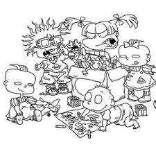 Small Picture Phil and Lil Release a Balloon in Rugrats Coloring Page Color Luna