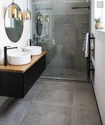 using large format tiles on shower