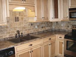 Rock Backsplash Kitchen White Kitchen Cabinets With Stone Backsplash Cliff Kitchen