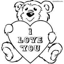 Small Picture Download Teddy Bear With Heart Coloring Pages