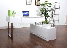 office desk modern.  Office Modern White Office Desk In Matt With 3 Drawers For
