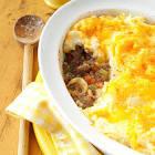 beef and mashed potato casserole