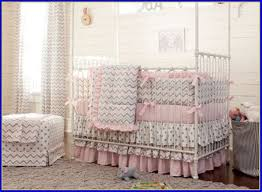 image of chevron baby bedding decor