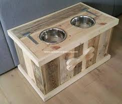 diy pallet dog bowl stand plans wood projects