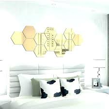 hexagon wall mirror hexagon wall mirror gold stickers removable vinyl art mural stick home decor tiles hexagon wall mirror