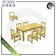 preschool table and chair set. Beautiful Chair JT175501 Preschool Kindergarten Cheap Six Seats Children Wooden Study Party  Table And Chairs Set Intended Preschool Table And Chair Set A