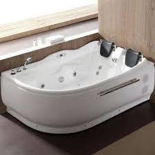 acrylic right drain corner a front whirlpool bathtub in white