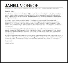 sample cover letter business sample cover letter for a finance job job cover letters livecareer