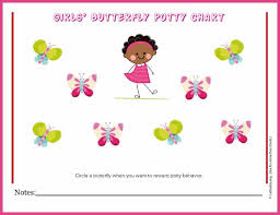 Potty Training Charts For Girls Free Potty Training Chart Girls Butterfly Acn Latitudes