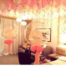 hotel room balloons