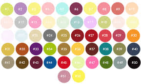 Egg Dye Color Chart Colour Chart Mademoiselle Luxury Soy Candles